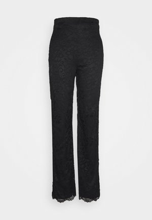 STRAIGHT PANTS - Kangashousut - black