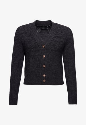 Cardigan - dark grey marl