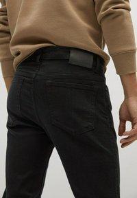 Mango - PATRICK - Slim fit jeans - black denim - 4