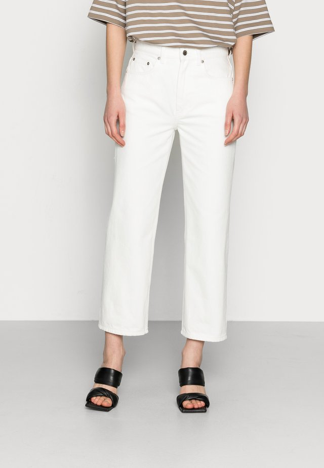 CROPPED - Džíny Straight Fit - off white