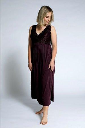 ULLA POPKEN - Jersey dress - aubergine