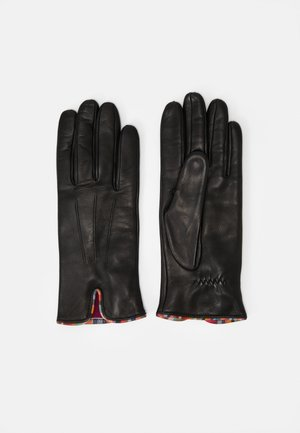 GLOVE SWIRL PIPING - Fingerhandschuh - black