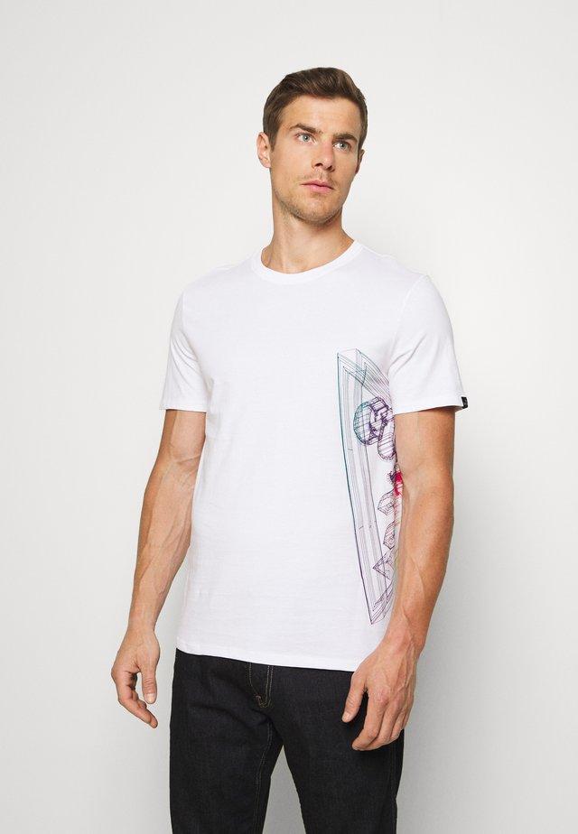 WHIRE FRAME - Print T-shirt - blanc pur