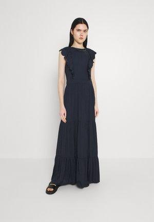 DRAPEY DRESS WITH SCALLOPED EDGE DETAILS - Maxi šaty - night