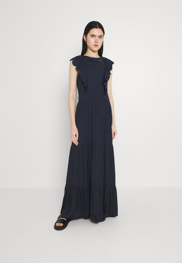 DRAPEY DRESS WITH SCALLOPED EDGE DETAILS - Długa sukienka - night