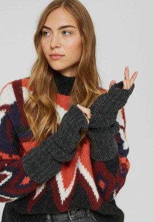 NON-LEATHER - Fingerless gloves - anthracite
