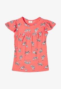 s.Oliver - Print T-shirt - coral aop - 0