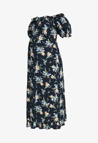 Dorothy Perkins Maternity - MATERNITY FLORAL MILKMAID CRINKLE DRESS - Jersey dress - navy - 4