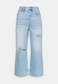 Even&Odd - Wide leg cropped jeans - Straight leg jeans - light blue denim - 3