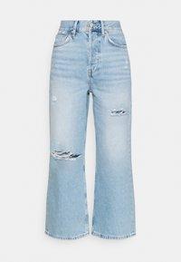 Wide leg cropped jeans - Jeansy Straight Leg - light blue denim