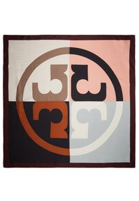 Tory Burch - COLOR BLOCK LOGO SQUARE  - Foulard - black - 2
