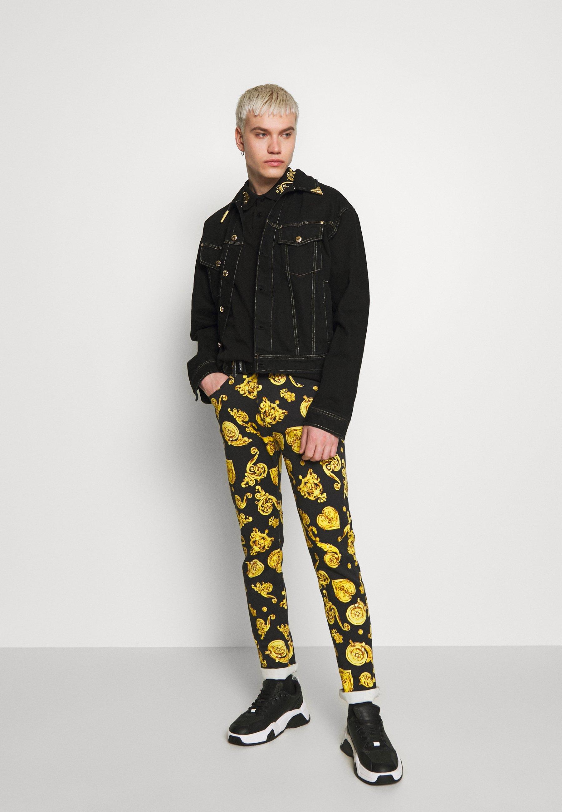 Versace Jeans Couture ALLOVER GIOIELLI PRINT - Jean slim - black