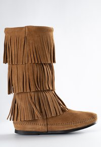 Minnetonka - 3 LAYER FRINGE - Cowboy-/Bikerlaarzen - light brown - 2