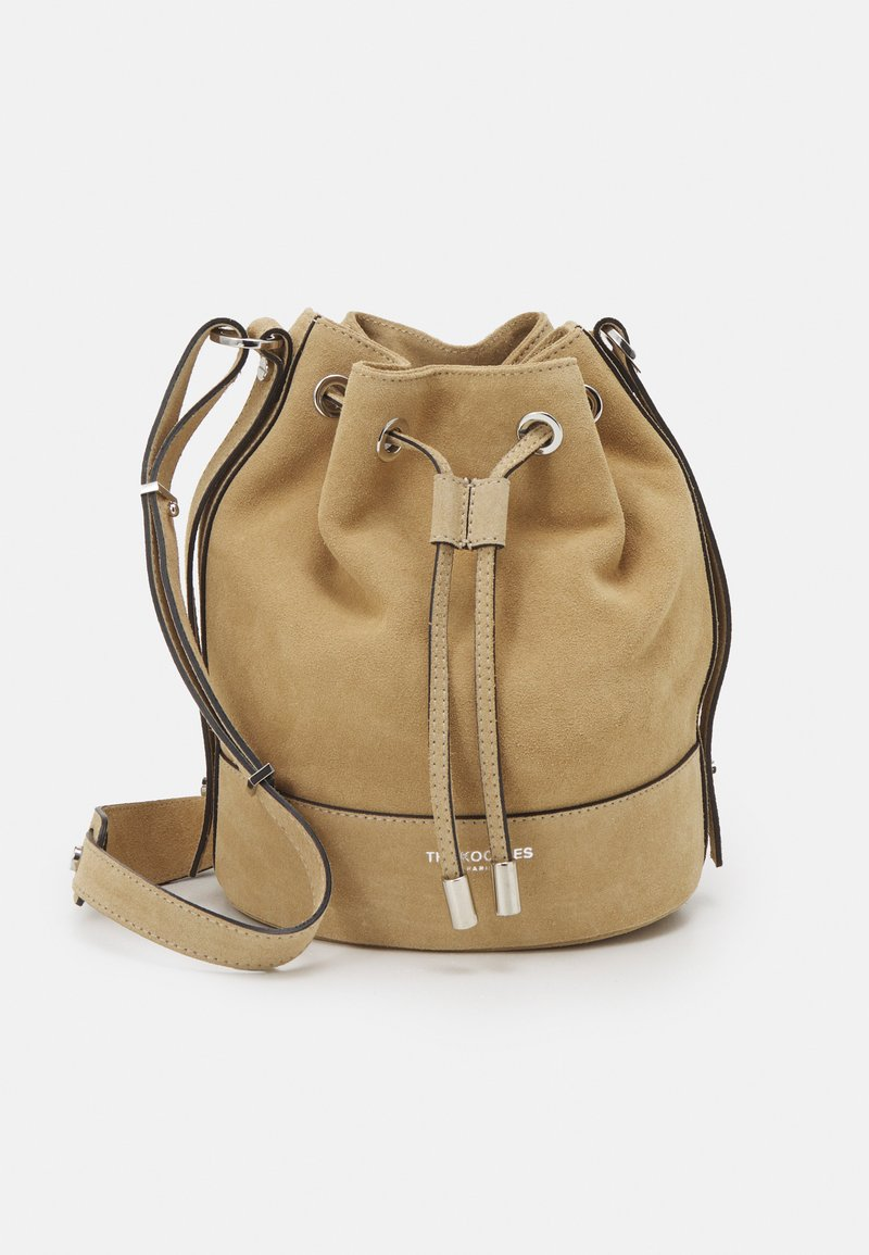 The Kooples - TINA KUNAKEY MEDIUM BUCKET BAG - Handtas - beige