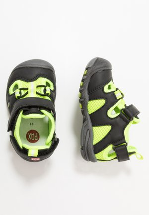 PEPPER UNISEX - Outdoorsandalen - black/lime