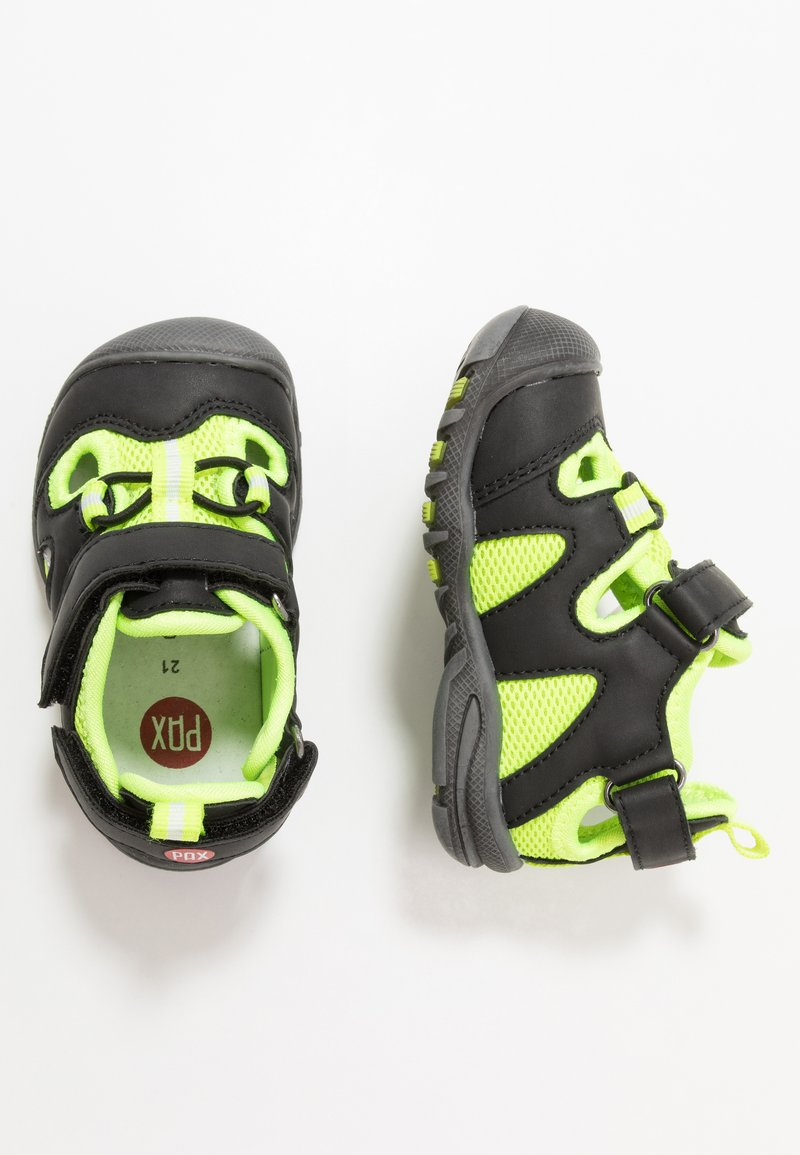 Pax - PEPPER - Chodecké sandály - black/lime