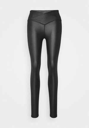 SHINE WAIST LEGGING - Leggings - black