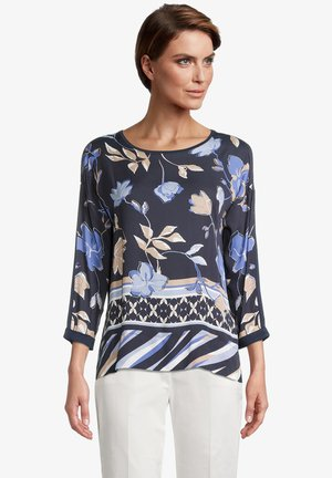 Long sleeved top - dark blue beige