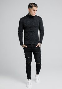 SIKSILK - ROLL NECK JUMPER - Maglione - black - 1