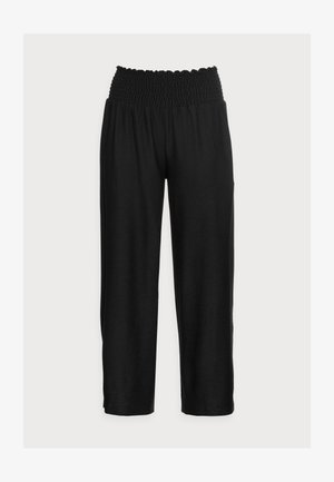 PCCURLI CROPPED - Trousers - black
