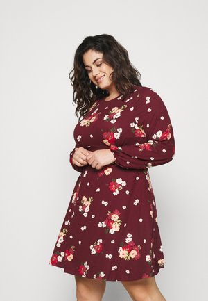 ALINE TEA DRESS - Jerseyjurk - dark red