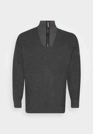 TROYER - Trui - black/grey melange