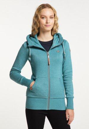 NESKA ZIP - Zip-up sweatshirt - petrol