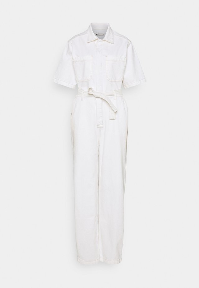 SHORT SLEEVE SUIT - Tuta jumpsuit - ecru