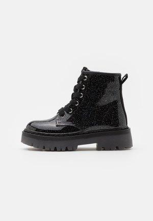 JDYNASTI - Lace-up ankle boots - black glitter