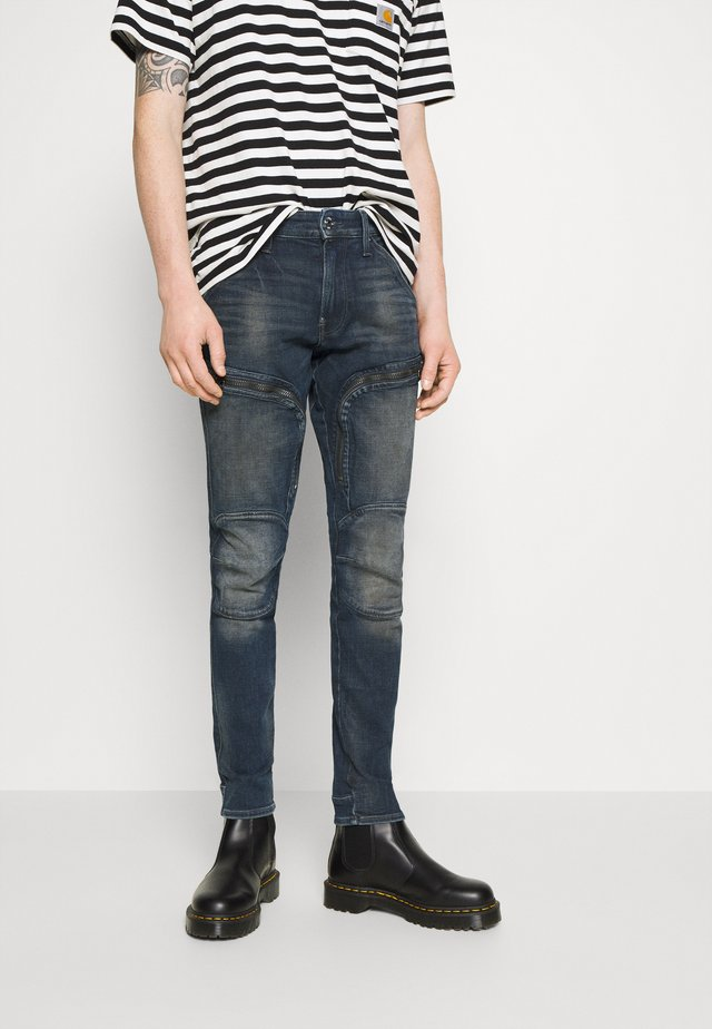 AIR DEFENCE ZIP SKINNY - Jeans Skinny Fit - antic nebulas