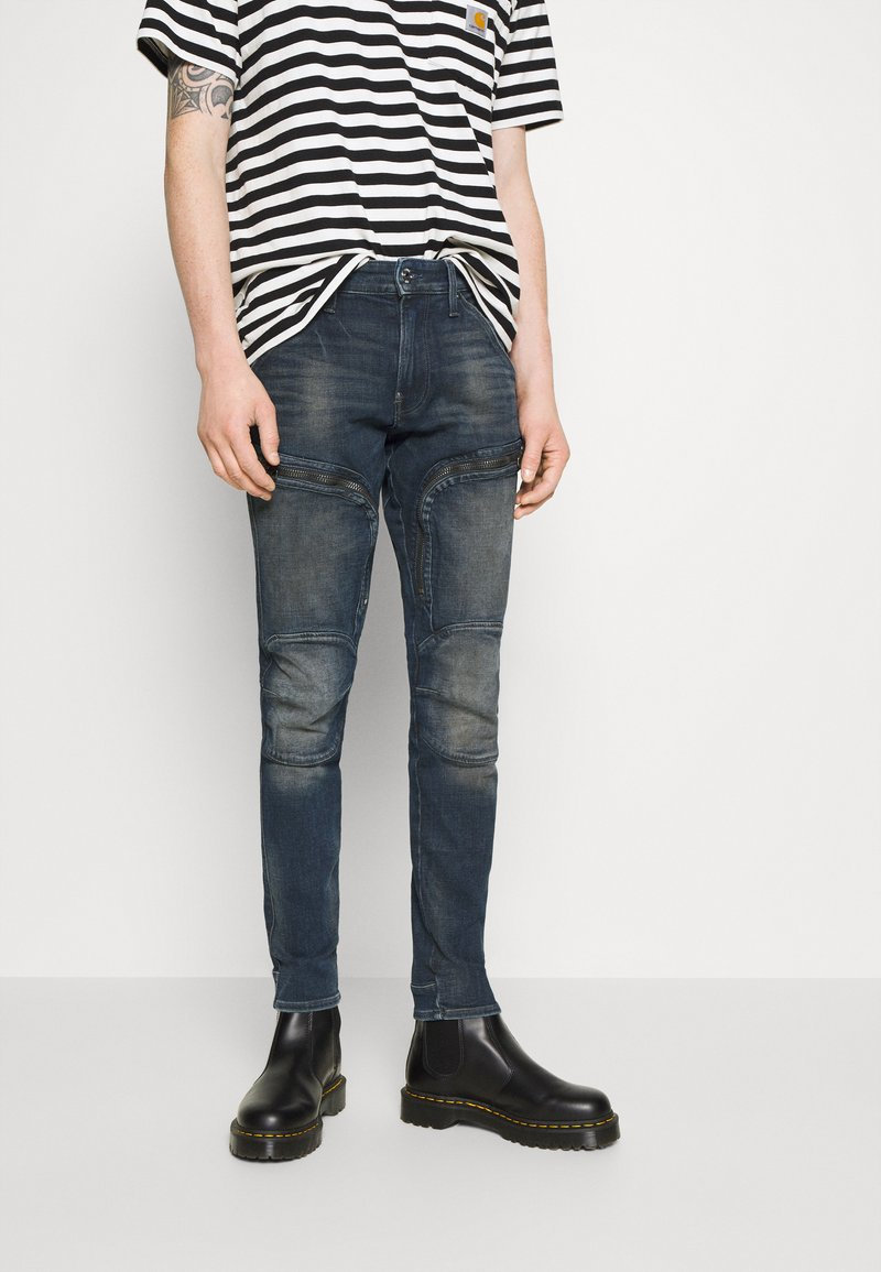 G-Star - AIR DEFENCE ZIP SKINNY - Jeans Skinny Fit - antic nebulas