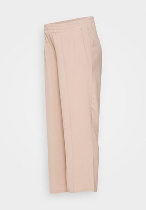 PCMBELIA WIDE PANT - Tygbyxor - natural