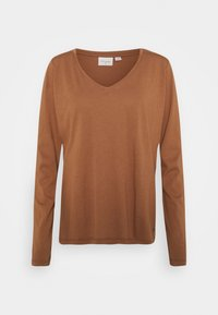 Cream - NAIA LONG SLEEVE  - Long sleeved top - chicory coffee - 0