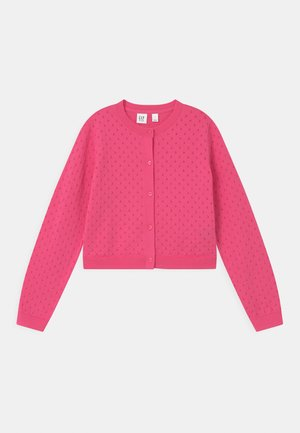 GIRL EASTER  - Strikjakke /Cardigans - neon pink rose