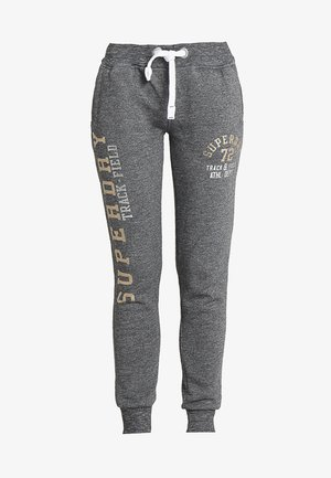 TRACK & FIELD   - Tracksuit bottoms - mottled dark grey