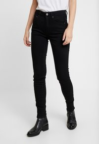 G-Star - 3301 HIGH SKINNY - Jeans Skinny Fit - pitch black - 0
