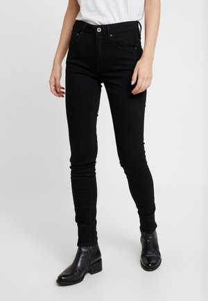 3301 HIGH SKINNY - Jeansy Skinny Fit - pitch black