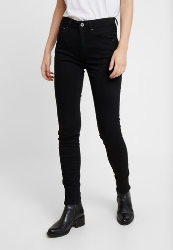 3301 HIGH SKINNY - Jeans Skinny Fit - pitch black