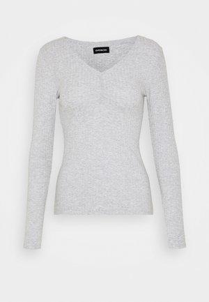 Topper langermet - light grey