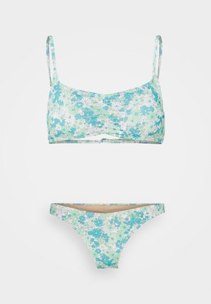 GATHERED FRONT TOP GATHERED BUM BRAZILIAN - Bikini - pastel