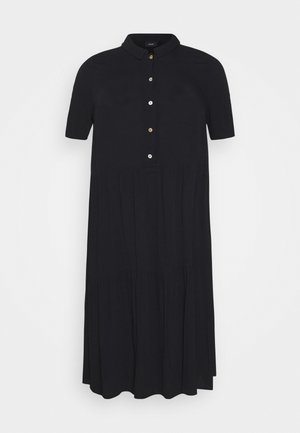 MIDI DRESS - Skjortekjole - black solid
