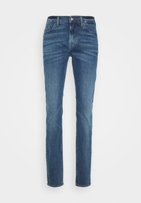 7 for all mankind - RONNIE OFFICER - Džíny Slim Fit - mid blue - 4