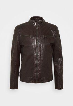 TULOK - Leren jas - dark brown