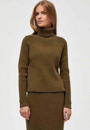 Pullover - dark olive melange