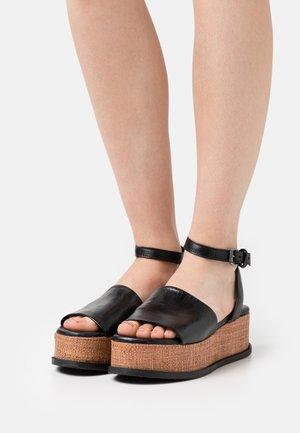 SUNNY - Platform sandals - nero