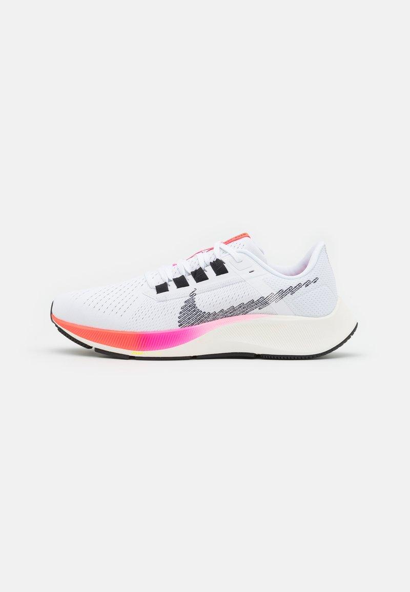 Nike Performance - AIR ZOOM PEGASUS 38  - Neutrala löparskor - white/black/football grey/pink blast/bright crimson