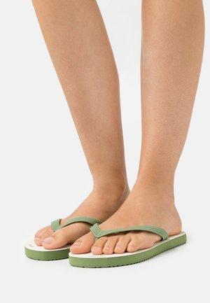 RETRO - Flip Flops - sage