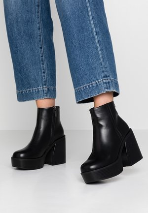SETENTA - High heeled ankle boots - black