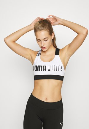 MID IMPACT FEEL IT BRA - Sports bra - white
