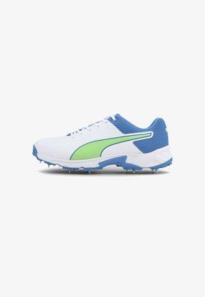 Spikes - puma white-nrgy blue-green